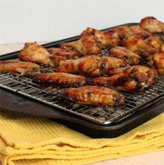 Maple and Meyer Lemon Glazed Chicken Wings