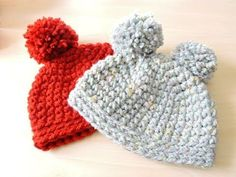 Gorrito con Pompones superfácil a crochet! - YouTube
