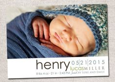 Birth announcement baby boy announcement baby by cardsetcetera