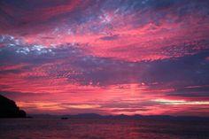 Sunset from Isla Espiritu Santo, BCS. Mexico.