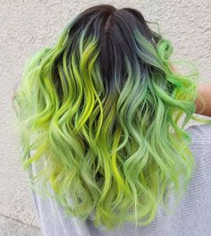 lime green hair