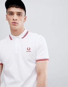 d965d72ab Fred Perry England polo in white