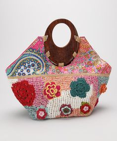Take a look at this Pink Floral Wood Handle Satchel on zulily...USE MY LINK! http://ww.zulily.com/invite/kanderson38283