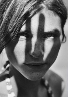 Woman / Freckles / Black and White Photography by Eric Rose