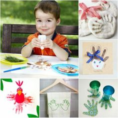 20 Happy Handprint Crafts & Activities | MollyMoo for @Spoonful