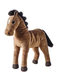ÖKENLÖPARE giocattolo morbido, cavallo.