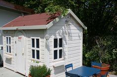 Casita Infantil de madera modelo ALTEA personalizada de blanco en Suiza // Aldea all white from Switzerland