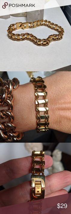 Chunky Pearl Bracelet Curb Link Chain Bracelet Front Clasp Bangle Statement Chain Bracelet Toggle Clasp Bracelet Retro Natural Pearl Bangle