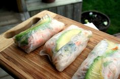 Spring Rolls- I really want to make sushi at home!!