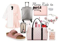 """""""Plane Ride to Paris"""" by thetrendsetter13133 on Polyvore featuring Birkenstock, Oliver Gal Artist Co., Charlotte Russe, Christian Dior, Casetify, Chanel, Gucci, ban.do and La Preciosa"""