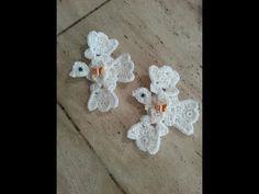 Crochet easy Dove Applique using crochet shells DIY tutorial