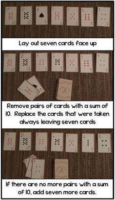 Math Coach's Corner: Addictive Game for Practicing Combinations for Ten