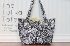 Make It Handmade: Tulika Tote Sewing Tutorial. Converts to cross body...