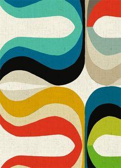 Kleurrijke retroprints van Inaluxe