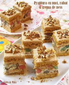 Prajitura cu nuci, rahat si crema de ness ~ Culorile din farfurie recipe