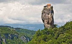The Katskhi pillar:  The heaven church #Georgia