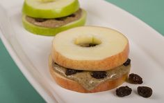 Apple slices replace bread in this crunchy twist on the peanut butter sandwich. vegan plantbased