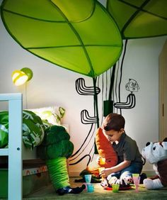 IKEA LOVA Leaf Childrens Kids Bed Canopy Tent  kids bedding