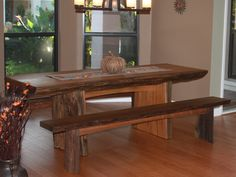 Great Dining Room Table made from one outside cut of a Recovered Sinker Cypress Log.