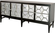 Shania Mirrored Sideboard 32'' H x 72'' W x 22'' D $1200
