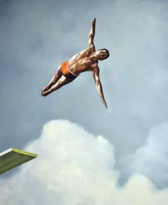 "Gallery Henoch - Eric Zener - Leap of Faith  - Oil on Canvas - 66"" x 54"" - Solo Show ""Escape"" September 8 - October 1, 2016"