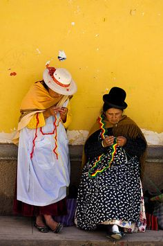 Yep, they really do dress like this in Bolivia!