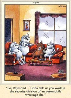 Far Side Cartoons, Far Side Comics, Funny Cartoons, Funny Animal Videos, Cute Funny Animals, Cute Dogs, Dog Memes, Funny Memes, Hilarious