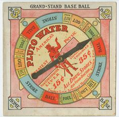 Grand-stand baseball [graphic] : Pluto Water. America's greatest physic for constipation, stomach & kidney, liver troubles. 15 [cents]. 35 [cents]. All drug stores. Ask your doctor. c.1895