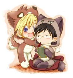 what is this?!! it is freaking adorable that's what it is......Tamaki x Kyoya of the OHSHC