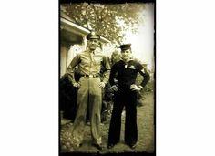 Maurice and Bill Paschall, 1945,  Bridgeport, Texas
