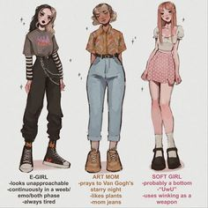 Anime Outfits, Girl Outfits, Cute Outfits, Fashion Design Drawings, Fashion Sketches, Aesthetic Fashion, Aesthetic Clothes, Aesthetic Grunge, Kleidung Design