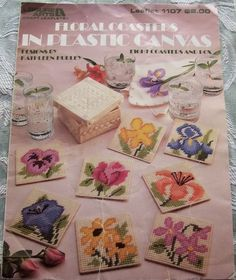 Floral Coasters Plastic Canvas Leisure by AnotherWomansTreasur