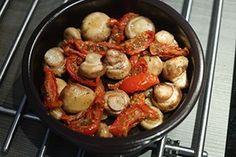 gemarineerde champignons met mangego