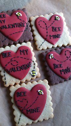valentine cookies (not my idea)