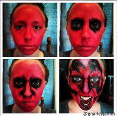 Insidious #facepaint #bodyart #makeupbymarley