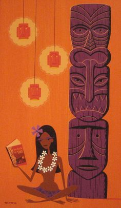 Tiki culture Art by Shag. Want this one in the Library/office.