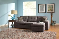 Gus Charcoal/Black Casual Sectional