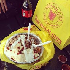 Street meat from Halal Guys (6th Ave & 53rd St is the best): | 18 Foods Everyone Must Try Before LeavingNYC