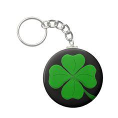 12 pcs charming cool four leaf clover mini design black drop keychain