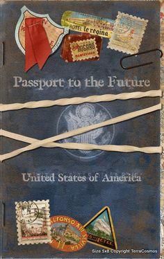 DIY Passport Graduation Announcement Invitation Template (Instant Download) via Etsy