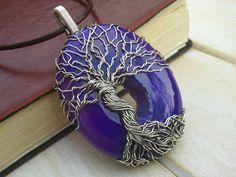 Druzy Tree of Life Pendant - Wire Wrapped Jewellery Handmade - Agate Druzy - Gemstone Jewellery - Yggdrasil Pendant by EmmaWyattArt on Etsy https://www.etsy.com/listing/254757130/druzy-tree-of-life-pendant-wire-wrapped