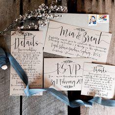 PRINTALBE Rustic Wedding Invitations PRINTALBE by LaPommeEtLaPipe