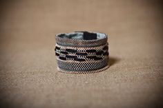 Nicoletta  Handwoven cuff bracelet with copper by JuliaAstreou, €15.00