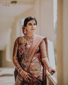 Best South Indian Brides Of 2019 We Came Across! - ShaadiWish Indian Wedding Planner - Best South Indian Brides Of 2019 We Came Across! Best South Indian Brides Of 2019 We Came Across! South Indian Makeup, South Indian Bridal Jewellery, Indian Bridal Fashion, South Indian Weddings, Indian Bridal Makeup, South Indian Bride, Bridal Jewelry, Bridal Sarees South Indian, Indian Sarees