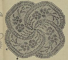 MAJAS DRAUGS №11, 10.06.1939. Tea Tree  Design by Mary Card. Filet Crochet Chart(good quality)