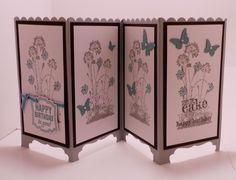SU Serene Silhouettes, Label Love, Beautiful Wings Embossits   Screen Fold Card