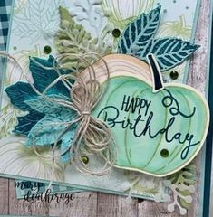 Stampin' Up! Harvest Hellos Gather Together For a Special Celebration! Fall Cards, Winter Cards, Fall Paper Crafts, Paper Crafting, Pumpkin Cards, Leaf Cards, Stamping Up Cards, Thanksgiving Cards, Card Making Inspiration