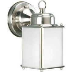 Roman Coach Collection Brushed Nickel 1-light Wall Lantern-P5986-09STR at The Home Depot