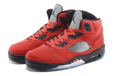 """superior quality 11d64 a7d97 2015 Air Jordan 5 Retro """"Raging Bull"""" Red Suede Black For Sale, Price    89.00 - Nike Rift Shoes"""