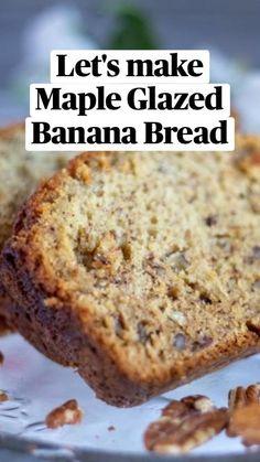 Homemade Banana Bread, Make Banana Bread, Banana Bread Muffins, Healthy Banana Bread, Healthy Muffins, Quick Bread Recipes, Banana Bread Recipes, Sweet Recipes, Snack Recipes